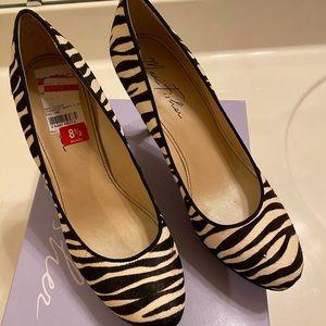 Marc Fisher zebra striped heels